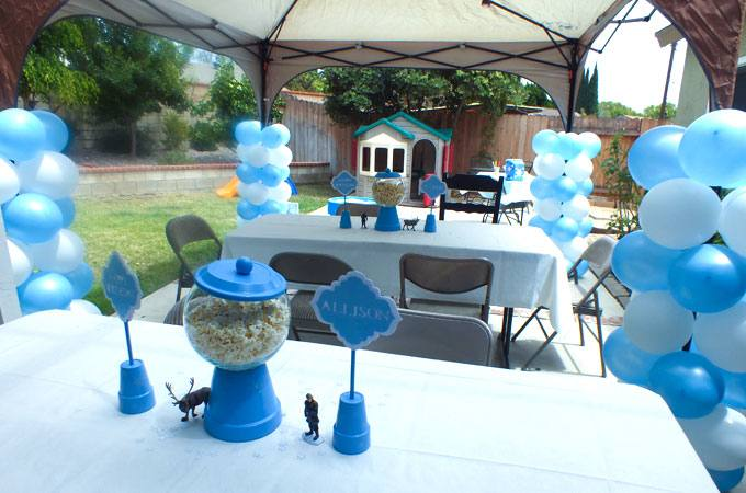 frozen party decorations ideas frozen themed birthday party with lots of  really cute ideas via party