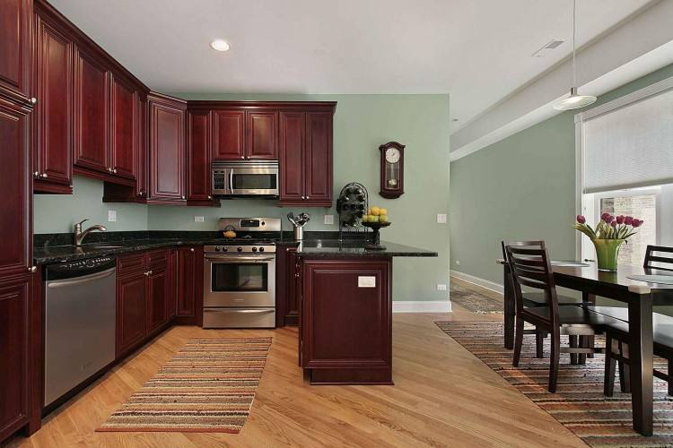 primitive decorating ideas kitchen colors with cherry cabinets white metal  double door refrigerator round pendant lighting