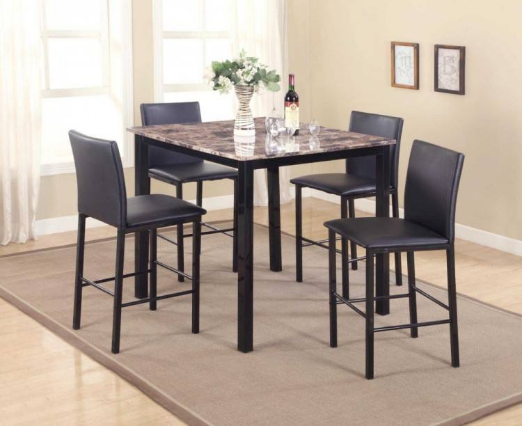 Coviar Counter Height Dining Room Table and Bar Stools (Set of 5),