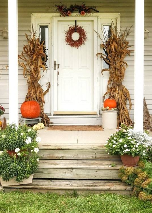 fall yard decorations decorating ideas outside best indoor and outdoor decor  images on autumn with corn
