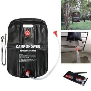 Color: docooler 20L / 5 Gallons Solar  Energy Heated Camp Shower Bag Outdoor Camping Hiking PVC Water