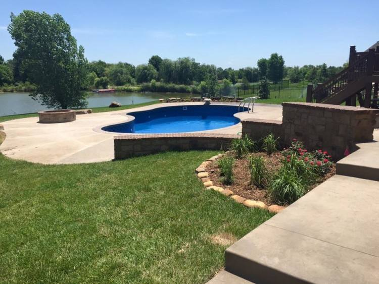 Sedona Custom New Construction Outdoor Living in Wichita