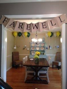 Farewell parties are usually held for various occasions