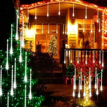 8Inch 8 Tubes 112 LEDs Falling Rain Drop Icicle String Lights for  Christmas