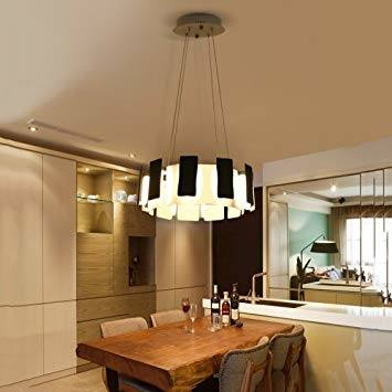 Contemporary DIY Multi Ring Pendant Frosted Shade Novelty White Halo Led  Chandelier Dining Room Kitchen Table