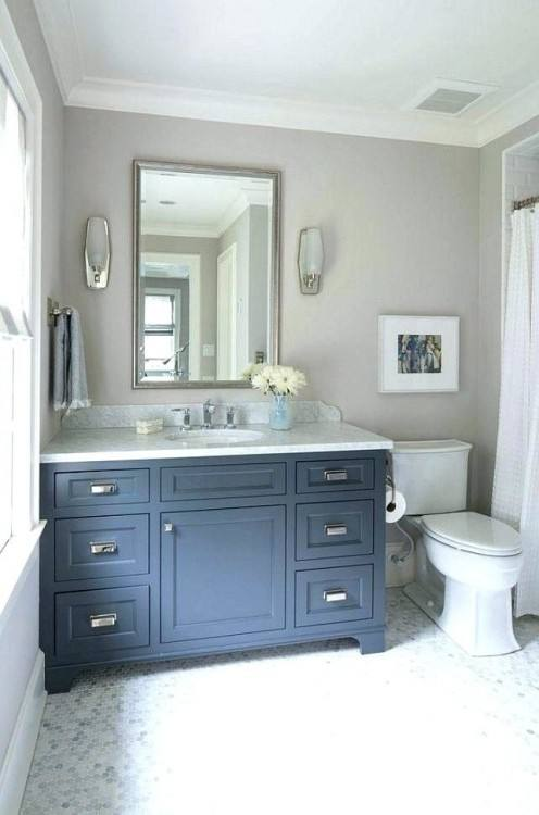 Blue Bathroom Vanity Cabinet Thing To Say About Gray Cabinets