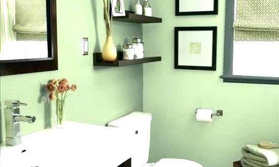 I love this pale green bathroom! I would do ivory or cream colored tile  with it, and a dark vanity