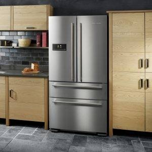 Classic Kitchen With  American Style Fridge Freezer