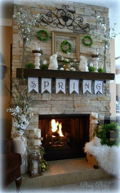 mantel decorating ideas for spring