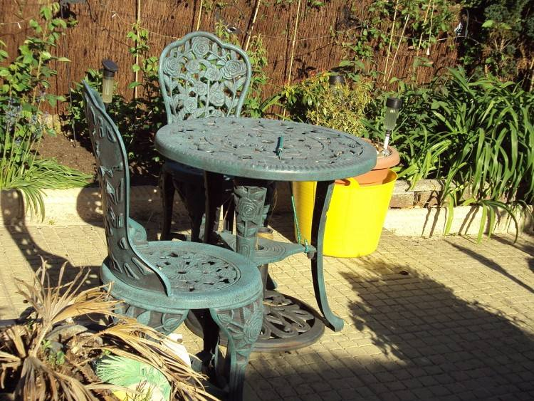 Oiling eucalyptus wood patio furniture helps keep it its original brown  color longer, but over time eucalyptus naturally fades to a beautiful  silver