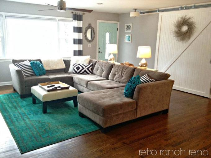 teal bedroom rug
