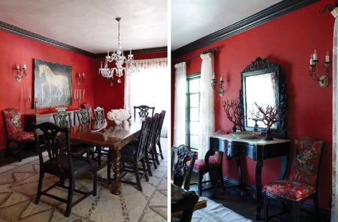Full Size of Red And Black Dining Table Chairs Glass With Hygena Amparo 4  Room Sets