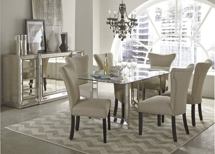 9 piece modern dining set glass dining table dining room modern 9 piece  dining room set