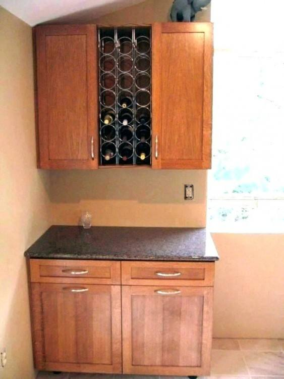 Kitchen Cabinet Wine Rack Inserts Beautiful 32 Best Diy Wine Rack Ideas  Image