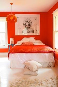 orange room ideas orange bedroom