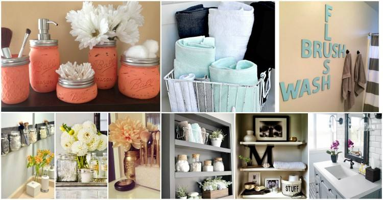 Flowers don't have to make a bathroom feel messy