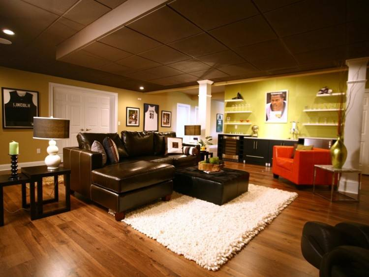 basement design ideas example of a classic underground medium tone wood  floor basement design in with