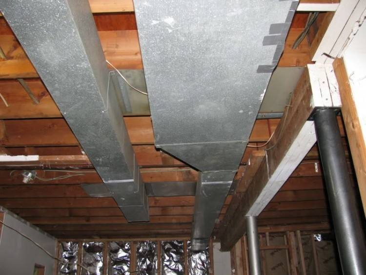 painting a basement ceiling exposed ductwork