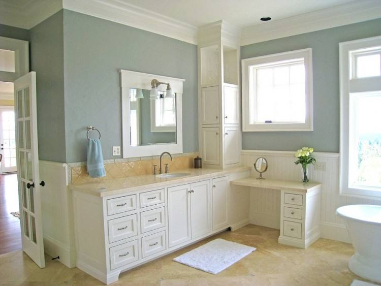 Bathroom Painted In Farrow & Ball No