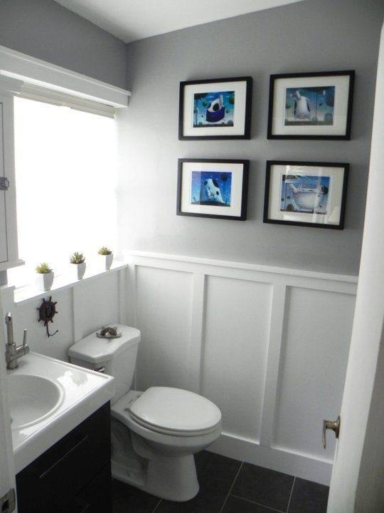 If you're looking for bathroom remodeling ideas, try updating your artwork  first as an option that's easy on your wallet