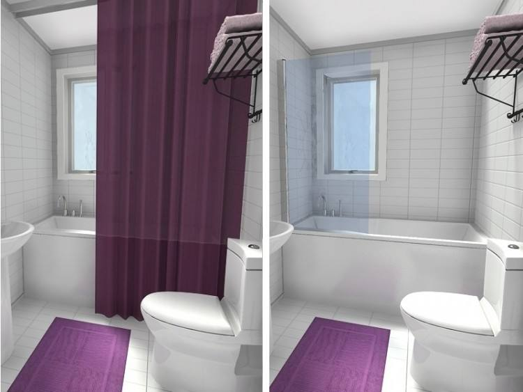 Shower Over Bath in Bathroom designs