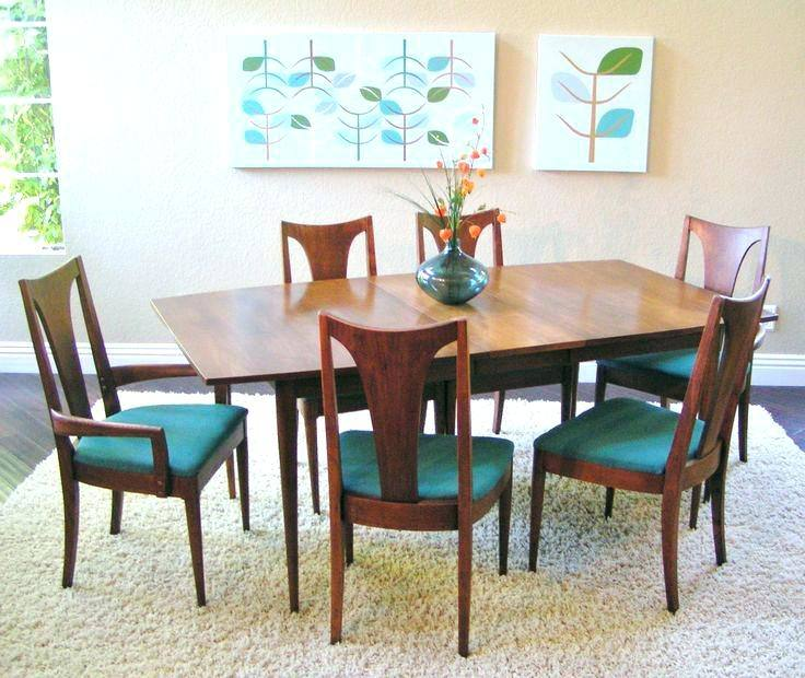 Broyhill Brasilia dining table and Broyhill dining chairs 1