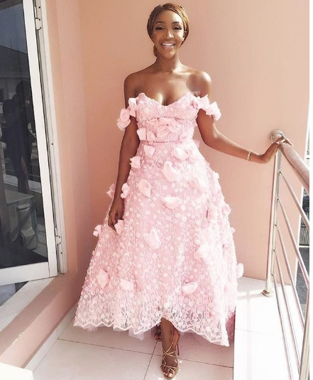 Tiwa Savage, now Mrs Balogun since the wedding ceremony is over, got  married in a beautiful ivory Vera Wang wedding gown and the wedding was  shot by Alakija
