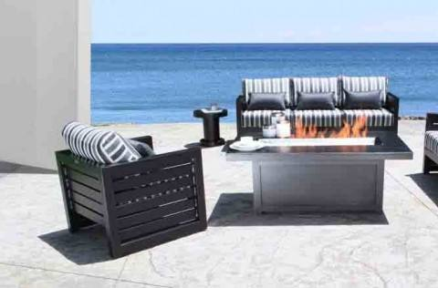 Furniture offers a ten year warranty on the frame and a one year  warranty on the finish of all cast aluminum furniture to be free from  defects in