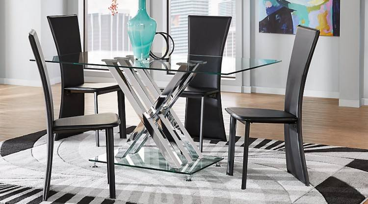 Glass Top Modern Dining Table Set