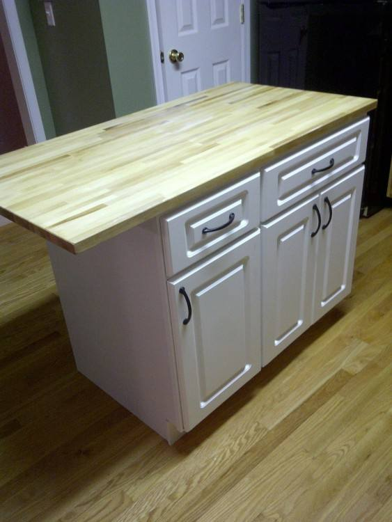 Diy Kitchen  Island Countertop Ideas Rustic Homemade Islands 5