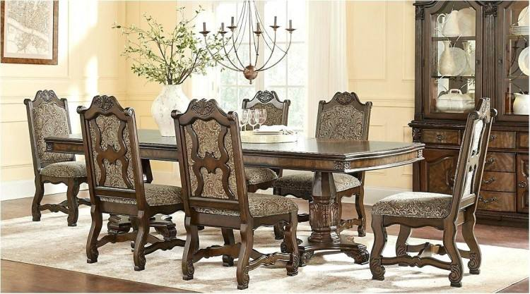 Crown Mark Kiera Traditional Double Pedestal Dining Table Wayside with  regard to traditional dining room tables