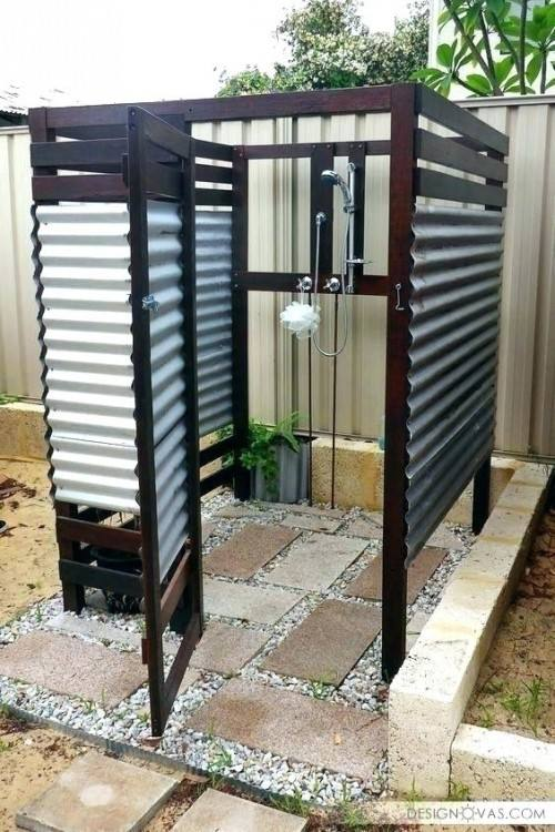 Pictures Of Inspiring Outdoor Shower Design Ideas : Cozy Outdoor Shower  Design With Shower Chair Natural