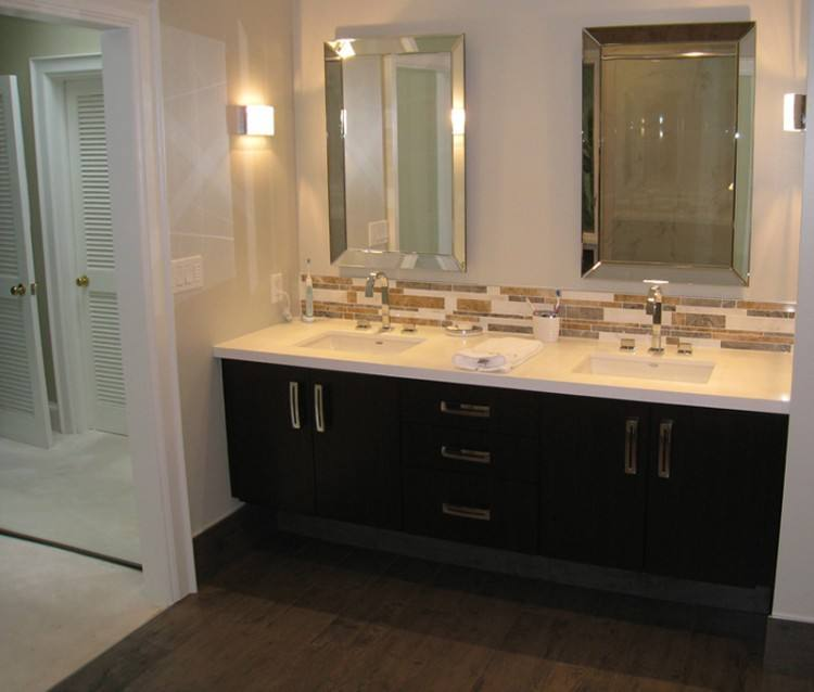 double sink for small bathroom