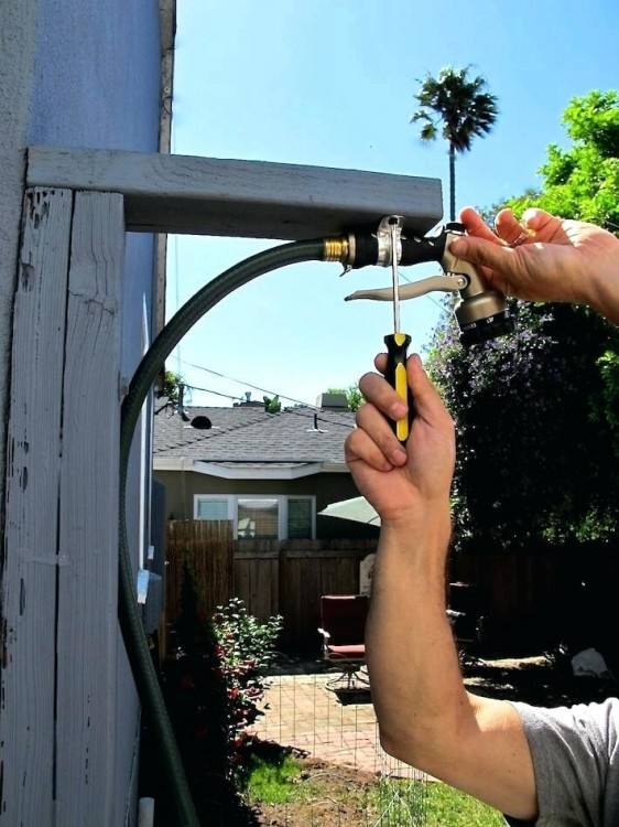 outdoor shower ideas easy simple hose fed portable enclosure plans photos  diy homemade best of attached
