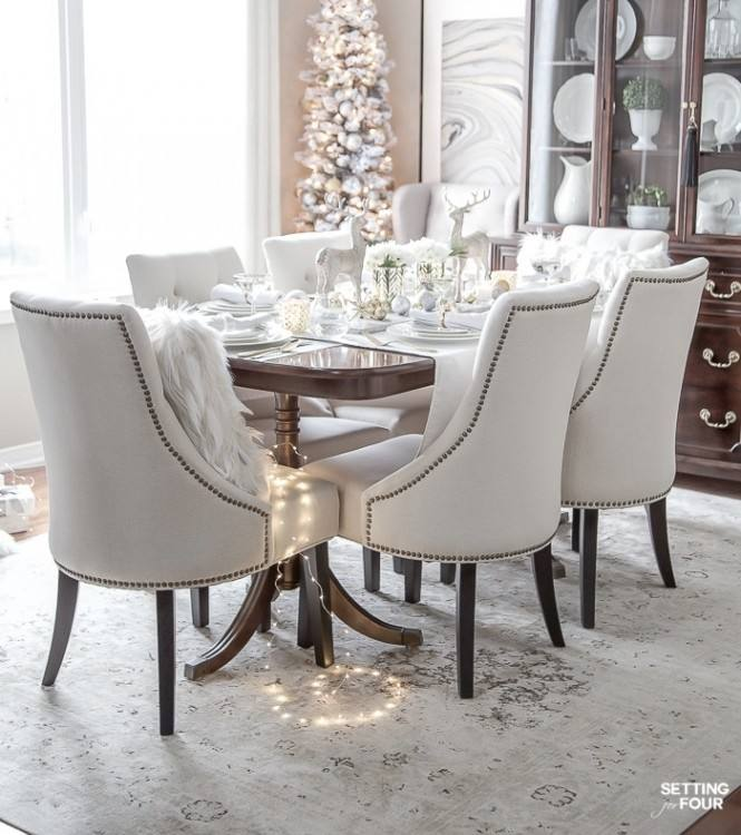 Ideas Concept : Dining Chair Decor For Christmas Day