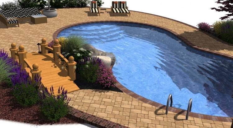 graduated levels home pool designs design software backyard