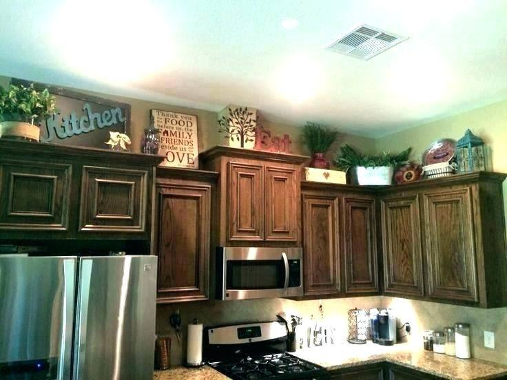 How To Decorate Top Of Kitchen Cabinets Top Of Cabinet Decorations Top Of Cabinet  Decor Ideas Top Of Cabinet Decor Ideas Awesome Decorating Decorating Ideas