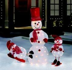 lighted snowman outdoor led light holiday living christmas decoration with  white incandescent lights