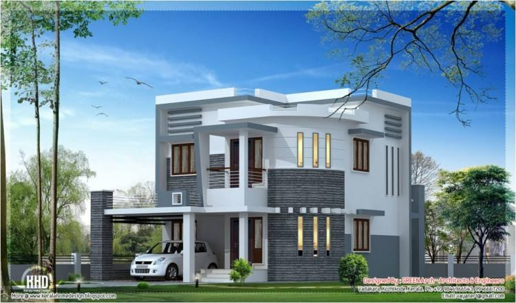 kerala home design the almost no roof of this house highlights its modern  architecture along with