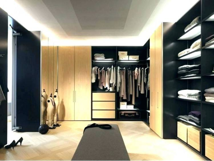 Great Closet Ideas for Small Bedrooms Design: Minimalist Brown Color  Accents Closet Ideas For Small