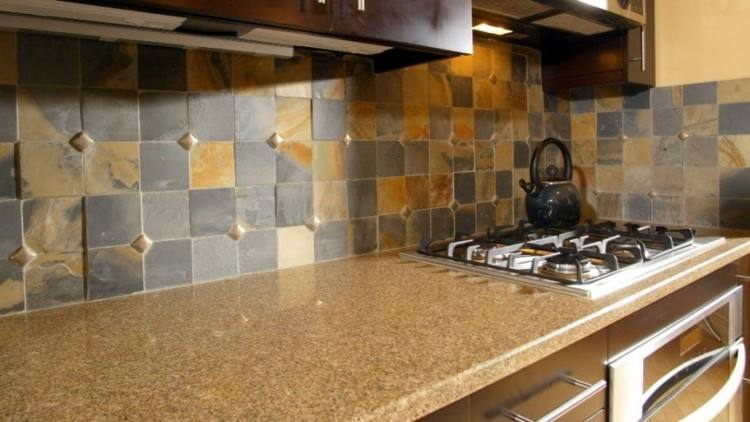 Picture of subway tyle kitchen backsplash