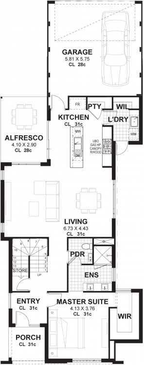 A clever design which delivers two bedrooms with the lot