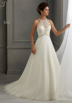 Beaded Halter Bridal Wedding Gown