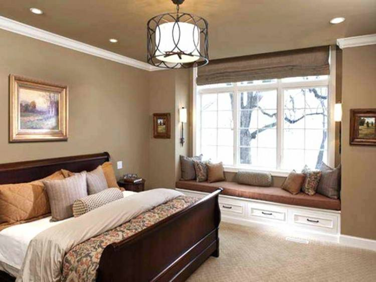 This master bedroom was designed like a luxury hotel suite