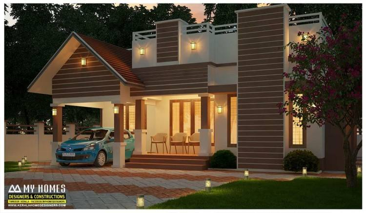 3 Lakh: 1130 Sqft Low cost Beautiful House Design for Middle class Family