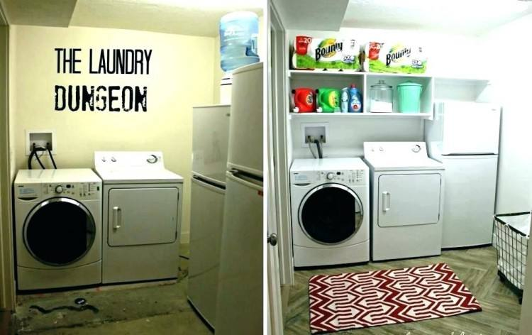 Basement Laundry Room Ideas To Try In Your House Unfinished Before And  After
