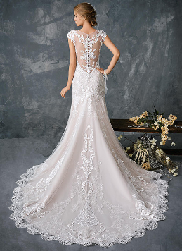 Fairytale skirt with beaded lace bodice by Agnes