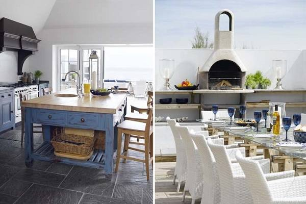 beach style dining room