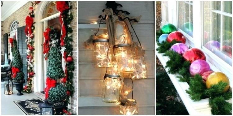 A simple outdoor Christmas  decorating idea
