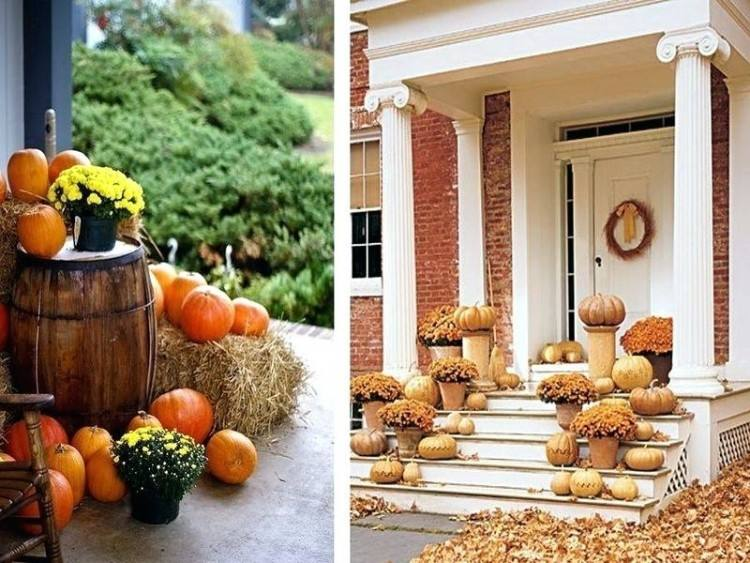 fall front door decor corn stalks pumpkins autumn flowers stalk decorations  decorating tips for bathroom outdoor
